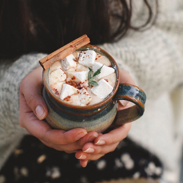 Holiday Hot Beverage Recipes by Om Edibles
