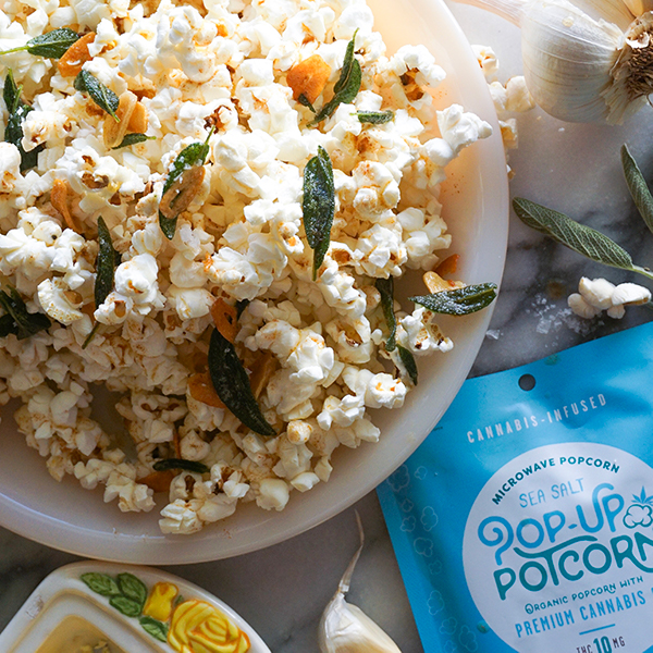 Pop-Up Potcorn with Brown Butter, Sage, and Toasted Garlic